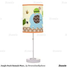 Jungle Stack Animals Nursery Lamp