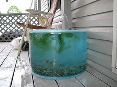 Garden Water Feature - Pop Up Pond Aquarium Now FREE Shipping Included Within The USA Pond Kit - Constructed from a special polymer material you can now set up