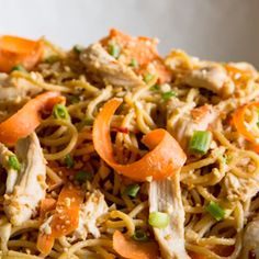 Thai Peanut Chicken and Noodles is your roadmap to unfussy takeout at home. Delicious, complex flavors emerge from simple pantry ingredients like magic!<br> Thai Peanut Chicken and Noodles is Asian Recipes, Healthy Recipes, Ethnic Recipes, Lunch Recipes, Peanut Sauce Chicken, Peanut Chicken Recipe Chinese, Thai Peanut Sauce, Thai Peanut Noodles, Noodles With Peanut Sauce