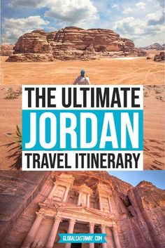 The Jordan travel itinerary. Embark on a virtual journey and enjoy Petra, Wadi Rum, and more of Jordan attractions. The best way to spend 7 days in Jordan! #globalcastaway Amazing Destinations, Travel Destinations, Eastern Travel, Jordan Travel, Travel Guides, Travel Tips, Ultimate Travel, Africa Travel, Weekend Trips