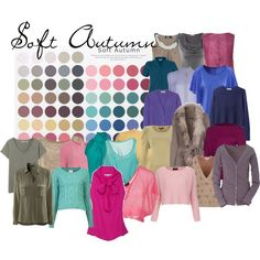 Soft Autumn - my color palette! Though I'm better in coral than that bright pink.