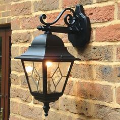 Elstead Norfolk Outdoor Hanging Lantern Wall Light from Lighting Direct. Delivered direct to your door - Buy online today Wall Lights, Glass Diffuser, Lanterns, Garden Lamps, Direct Lighting, Lantern Lights, Leaded Glass, Outdoor Hanging Lanterns, Aluminum Wall