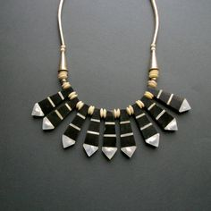 Tribal+Horn+Bib+Necklace+.+Mother+of+Pearl+.+Bone+.+by+TheDeeps,+$140.00