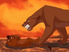 """Alternate ending: Nala becomes evil after Simba dies and she confronts Kopa. """"What were you doing?"""""""