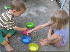 Easy homemade colorful, washable sidewalk paint!