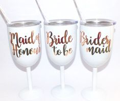 Hen Wine Glass/Bridesmaid Wine Glass/Wine Tumbler/Hen Party Drinkware/Bride to Be Wine Glass/Stainless Steel Glass/Hen Party favour/Hen Gift Hen Party Favours, Wine Tumblers, Event Ideas, Drinkware, Wine Glass, Bridesmaid, Stainless Steel, Drinks, Tableware