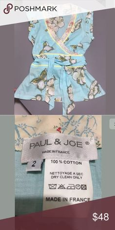 Sz 2 PAUL & JOE PARIS wrap top made France 🌷Offers considered  🌸Please examine photos for condition & measurements 🌷High quality, gently used 🌸Pet free, smoke free home 🌷Fast shipper!  🌸Please comment if any questions Paul & Joe Tops Blouses
