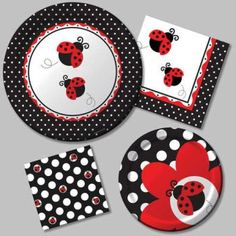Desechables para una fiesta de catarinas :: Ladybug party supplies