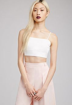 Woven Cropped Cami Top