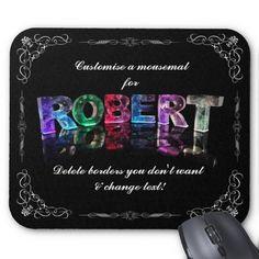 The Name Robert in 3D Lights (Photograph) Mouse Mats