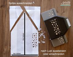 liebste schwester: Butterbrottütenstern - ein wunderschöner Klassiker, DIY, Weihnachtsstern Christmas Paper Crafts, Stampin Up Christmas, Christmas And New Year, Christmas Time, Xmas, New Years Decorations, Christmas Decorations, Paper Snowflakes, Jingle All The Way