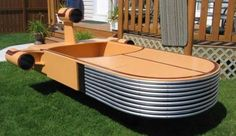 Thinking about making this to put in the front yard with a big Star wars inspired sign on it for Connor's 13th Birthday! Star Wars Landspeeder Bed. by irenepo