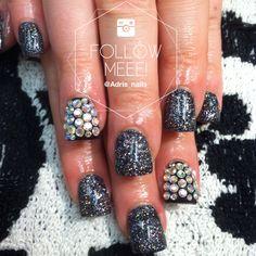 Sparkley bling nails with swarovski