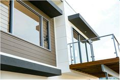Modern design with weatherboard & cladding.