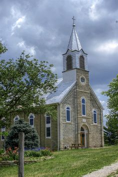 by Mystic Pilgrim - old church in the middle of the Missouri Ozarks