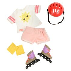 Ropa American Girl, American Girl Doll Sets, Og Dolls, Girl Dolls, Girl Doll Clothes, Pink Shorts, Our Generation Doll Accessories, Our Generation Doll Clothes, Fashion Dolls