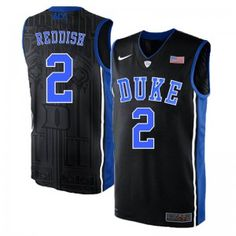 011593c0ba9 Men s Nike Duke Blue Devils 2 Cam Reddish Elite Jersey - Black