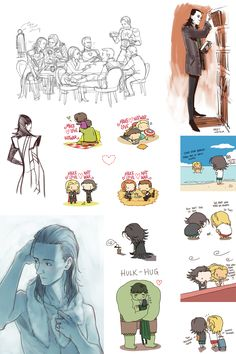 Loki Sketchdump- all of these are just beautiful. I wish I had the talent.