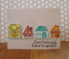 Card by SPARKS DT Rachel Izakowicz PS stamp sets:Bitty Bungalows; PS dies: Bungalows