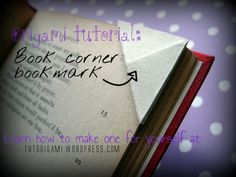 Origami Corner Book Mark - Origami Tutorials