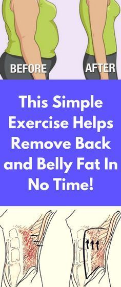 This Simple Exercise Helps Remove Back and Belly Fat In No Time!