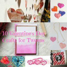 10 Valentine's Day crafts for tweens #ValentinesDay #DIY #crafts  http://tweenhood.ca/valentines-day-crafts/