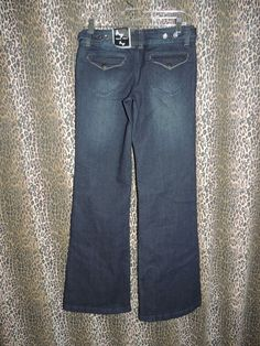 Eighty Eight Perfect Jeans Flare Leg Stretch Denim 4 PKT Blue Jeans Size 5 NWT #EightyEight #FlareLeg