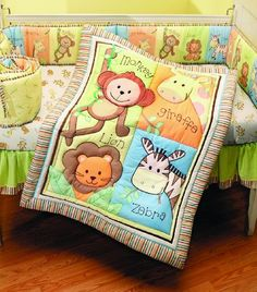 Summer Infant 4 Piece Monkey Jungle Collection Crib Set, Neutral - - Product Description: The 4 Piece Monkey Jungle Crib Bedding Set helps create a fun and dazzling environment for your littl Crib Bedding Boy, Baby Bedding Sets, Crib Sheets, Comforter Sets, Jungle Nursery, Jungle Theme, Nursery Decor, Nursery Sets, Safari Theme