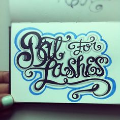 Bat for lashes! #lettering #letteringdaily #doodle #type #music - @magicmaia- #webstagram