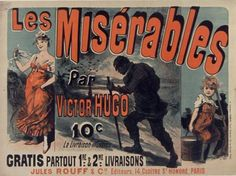 Book ad from 19th-century France for les Miserables by Victor Hugo