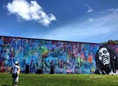 Bob Marley graffiti in Miami, Florida