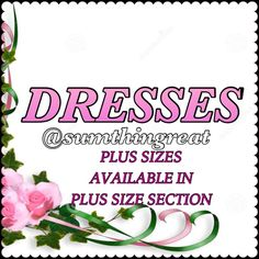 Variety of style dresses Various sizes Dresses