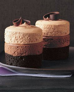 Triple-Chocolate Mousse Cake - Recipes, Dinner Ideas, Healthy Recipes & Food Guide
