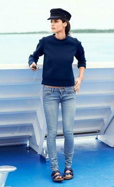 Blue jeans and Birkenstocks
