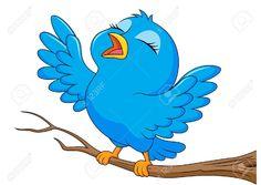 Illustration about Illustration of cute blue bird cartoon singing. Illustration of bluebird, gesturing, bird - 30167492 Vogel Clipart, Bird Clipart, Cartoon Birds, Cartoon Images, Inkscape Tutorials, Foto Blog, Bird Crafts, Bird Illustration, Cute Birds
