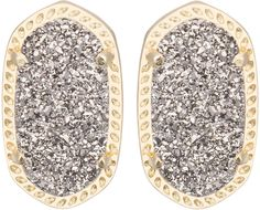 Kendra Scott Ellie Platinum Druzy Stud Earrings