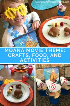 Planning the ultimate Moana movie themed night! Family movie night just got even more fun. Themed activities, food, crafts and more! Disney movies make for awesome together time. Toddler Learning Activities, Family Activities, Disney Activities, Moana Crafts, Disney Trips, Disney Travel, Disney World Parks, Family Movie Night, Movie Themes