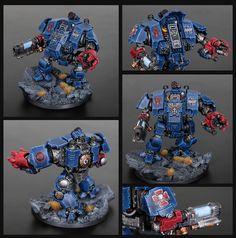 Warhammer Figures, Warhammer Paint, Warhammer Models, Warhammer 40k Miniatures, Warhammer Armies, Warhammer 40000, Space Marine Dreadnought, Miniaturas Warhammer 40k, Battlefleet Gothic