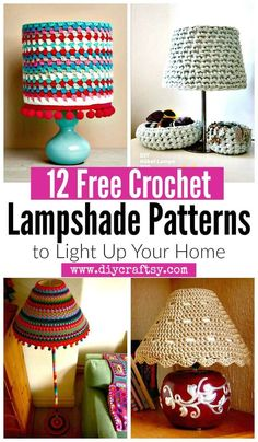 12 Free Crochet Lampshade Patterns to Light Up Your Home - DIY & Crafts