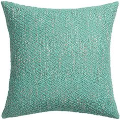 "diamond weave aqua 18"" pillow - $34.95 (less 15% is $29.70 x 2 - $59.41) - family room pillow"