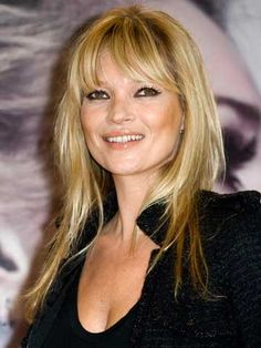 We take a look at Kate Moss and rumoured Celebrity Big Brother housemate Gillian Taylforth's matchy matchy hairstyles Dark Colors, Colours, Blonde Color, Celebrity Hairstyles, Kate Moss, Shaggy, Female, Celebrities, Black