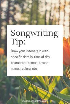 Songwriting Tip | Modern Songstress