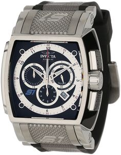32c5beef8d5 Invicta Men s 1081 S1 Rally Chronograph Black Dial Black Polyurethane Watch    For more information