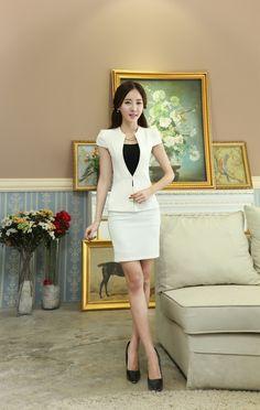 Summer Ladies Office Uniform Designs Women Business Suits Formal Office Suits…