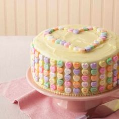 Valentine's Day Candy Cake recipe
