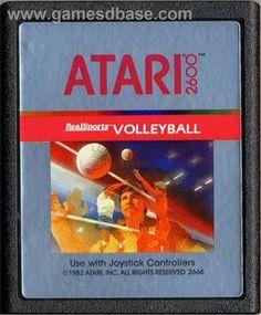 Atari  realsports baseball cartridge | Cartridge artwork for RealSports Volleyball on the Atari 2600.