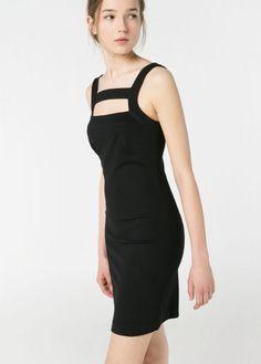 Cut-out strap dress