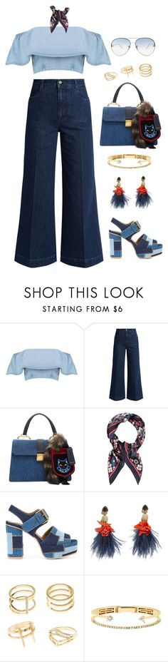 """just start loving me, babe"" by the-dreamcatcher ❤ liked on Polyvore featuring Boohoo, STELLA McCARTNEY, Miu Miu, Accessorize, See by Chloé, Lizzie Fortunato, Charlotte Russe, Delfina Delettrez and Linda Farrow"