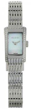 Gucci Gucci YA086502 8600 Women's Pearl Dial Diamond Rectangular Dress Watch