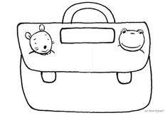 Peuterthema's: Terug naar school Petite Section, Schools First, School Themes, Preschool Kindergarten, Coloring Pages, Back To School, Zentangle, Clip Art, Teaching
